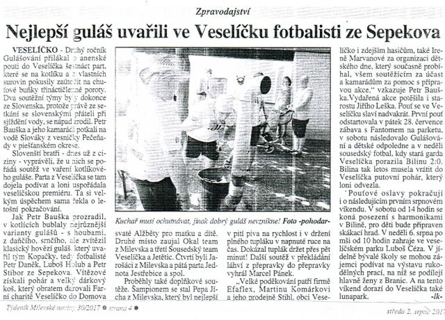 Milevské noviny 2. srpna 2017
